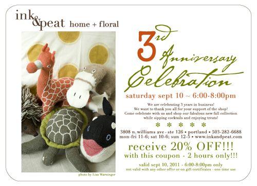 3rd anniversary invite