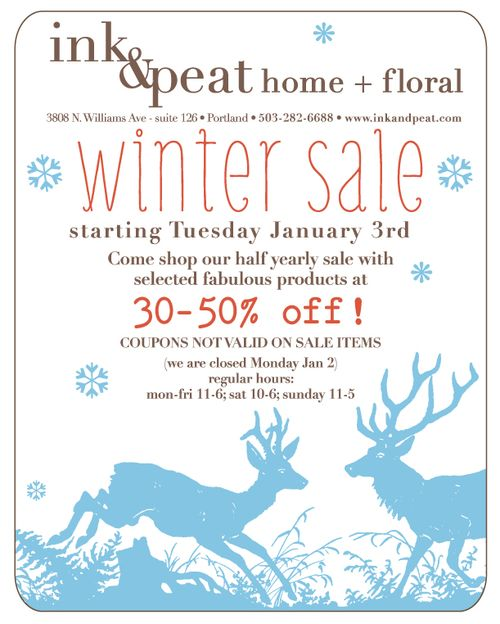 Winter sale email 2012